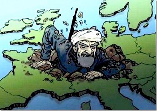 europa - cartoon - terrorismo