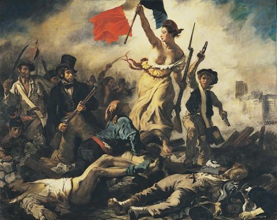 """""""A Liberdade guiando o Povo"""", de Eugénio Delacroix"""