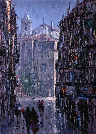 Rua da Palma - pintura de Augusto Gomes Martins
