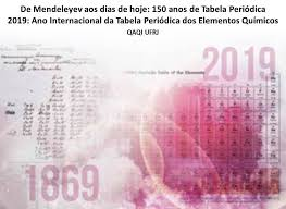 Ano Internacional da Tabela Periódica dos Elementos Químicos