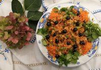 Legumes com Cubinhos de Frango